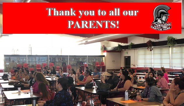 Thank you to all our parents!